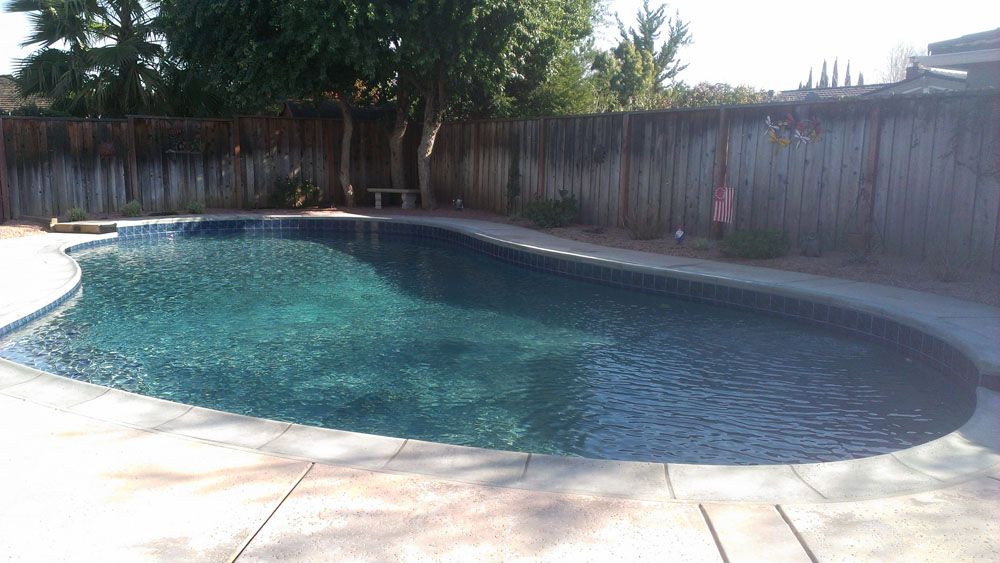 Medium gray generation pool plastering for Pool builders yuba city ca